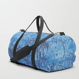 Blue splatters Duffle Bag