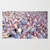 turkey Area & Throw Rugs featuring Turkey Farm  by BravuraMedia