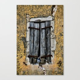 weathered window Canvas Print
