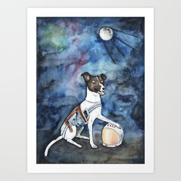 Our hero, Laika Art Print