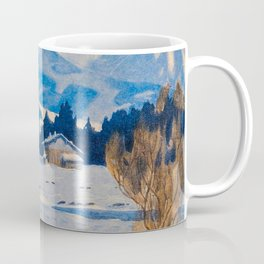 Jugend-Munich illustrated weekly for art and life - 1906 Cold Climate Snow Mountains Fox Coffee Mug