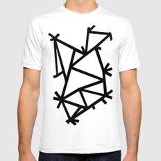 Ab Marble Zoom Black White SMALL Mens Fitted Tee