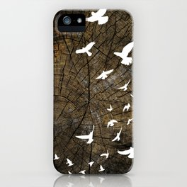 Birds on Wood iPhone Case
