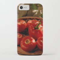 vegetables iPhone & iPod Cases featuring Red vegetables by Svetlana Korneliuk