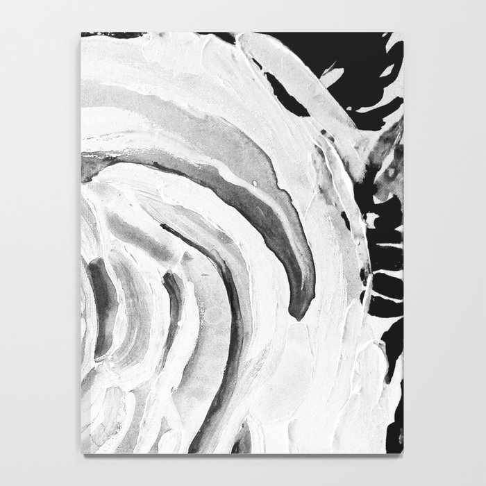 Roses For A Romantic Heart, Black and White Notebook