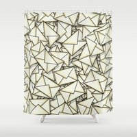 geek Shower Curtains featuring Email by 10813 Apparel