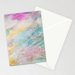 Watercolor abstract many color no.06 Stationery Cards