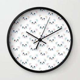 Cute Bear Cub Face Wall Clock