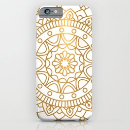 Gold Mandala iPhone Case