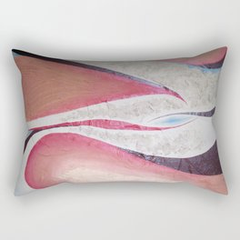 Red Ghost Rectangular Pillow
