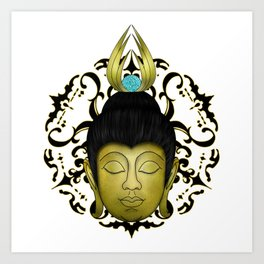 Golden Buda Art Print