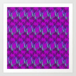 Shears Pattern Art Print