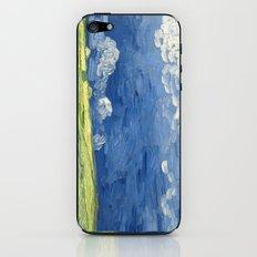 Vincent van Gogh - Wheatfield under thunderclouds iPhone & iPod Skin