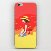 luffy iPhone & iPod Skins featuring Monkey D Luffy by Senior-X