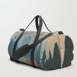 Morning Mist in Taj Mahal Vintage Beautiful Japanese Woodblock Print Hiroshi Yoshida Duffle Bag