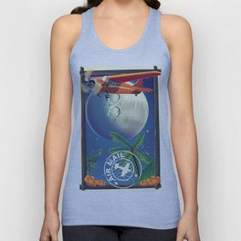 Vintage Air Mail poster Unisex Tank Top