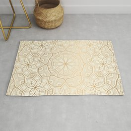 Golden Mandala Background Pattern Rug