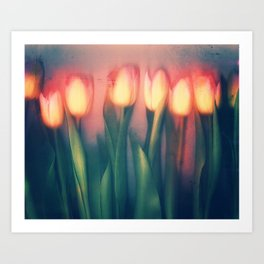 Tulips Yellow Art Print