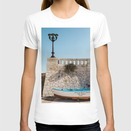 Boat at the port in Italy - Colorful Italy on a summerday  T-shirt