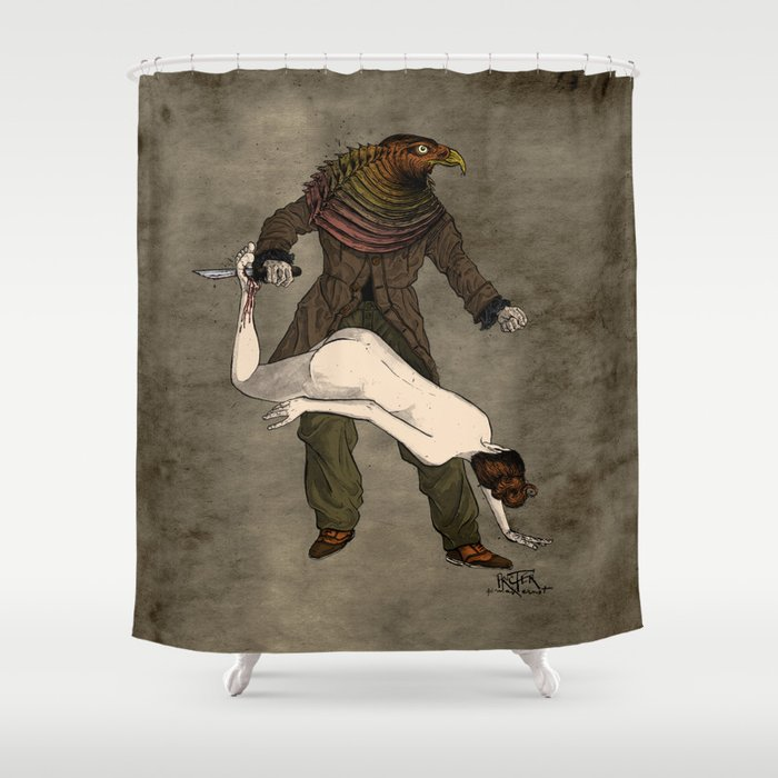 The Birdman (after Max Ernst) Shower Curtain by davidprocter | Society6