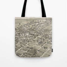 Vintage Pictorial Map of Monticello FL (1885) Tote Bag