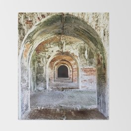 Arches of Fort Morgan Throw Blanket