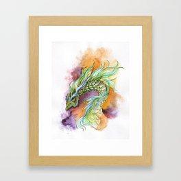 Green scales Framed Art Print