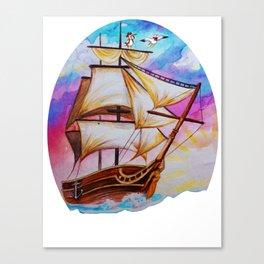ship watercolor Canvas Print