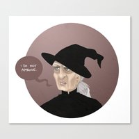 discworld Canvas Prints featuring Granny WeatherWax by Camille  Vincent