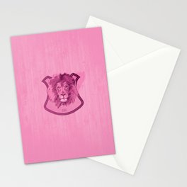 Hunting Series - The Pink Lion Head  Stationery Cards