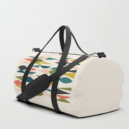 Mid Century Modern Abstract Colorful Shapes Funky Cool Minimalist Pattern Duffle Bag
