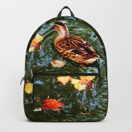 Duck in autumn Backpack