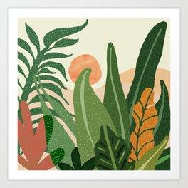 Desert Garden Sunset Art Print
