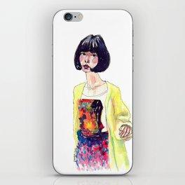Fashion Illustration . Oriental Girl iPhone Skin