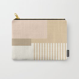 Sol Abstract Geometric Print in Tan Carry-All Pouch