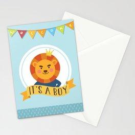 It's a Boy Lion Theme Stationery Cards
