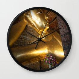 Reclining Buddha in Bangkok Wall Clock