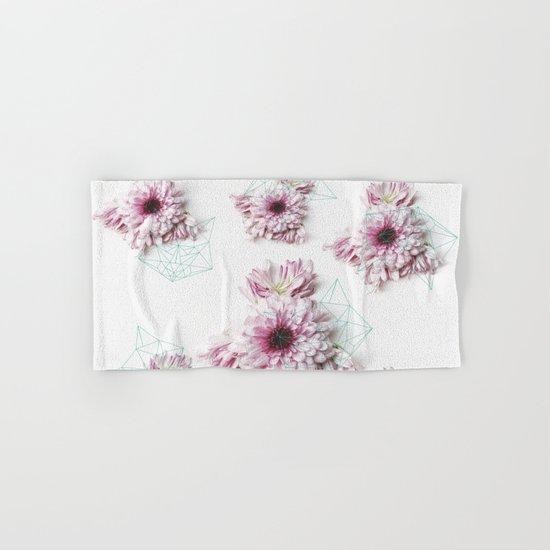 Geometry pastel flowers Hand & Bath Towel