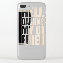 Hello Darkness My Old Friend Stout Beer Tee Shirt Clear iPhone Case