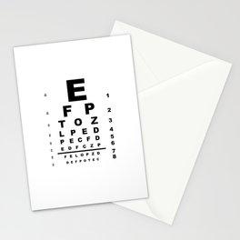 Eye Test Chart Stationery Cards