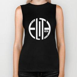 Elite White/Powder Circle Logo Biker Tank