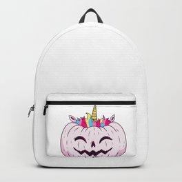 Cute Unicorn Pumpkin Halloween Thanksgiving - Funny Halloween Costume Backpack