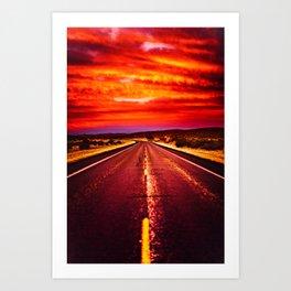 Desert Sunrise, Big Bend, Texas Art Print