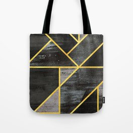 Geometric gold lines Tote Bag