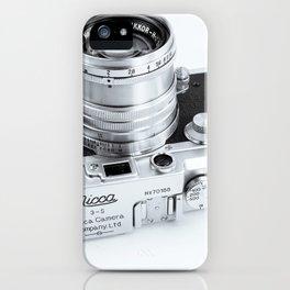 1950s Nicca 3-S 35mm Film Camera in Black & White iPhone Case