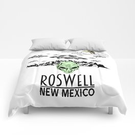 Roswell New Mexico Alien UFO Believer Nerds Gift Shirt Comforters