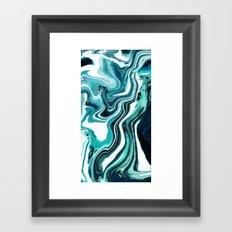 Marble - Sea of Green Framed Art Print