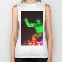 hulk Biker Tanks featuring Hulk by Roser Arques