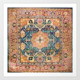 Amritsar Punjab North Indian Rug Print Art Print