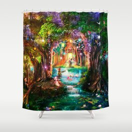 The Butterfly Ball Shower Curtain